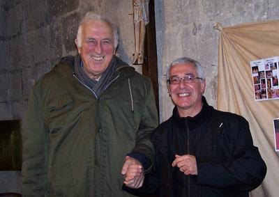 Jean Vanier et Jean-PIerre Benoit Trosly Janvier 2