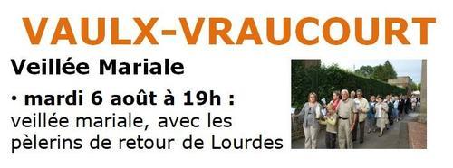 Veillee mariale Vaulx Vraucourt