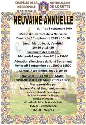 Neuvaine 2019 NDdeLorette_ nouvelle affiche