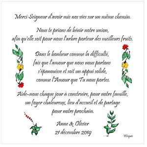priere epoux 15 x 15 avec fleurs