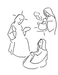 Jésus Marthe et Marie