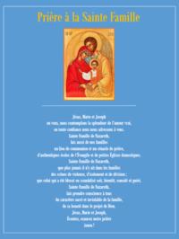 priere a la Sainte Famille