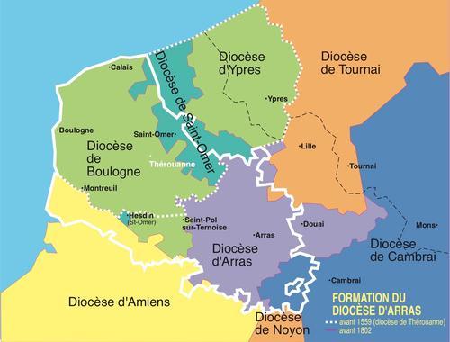 Formation du diocese 1559