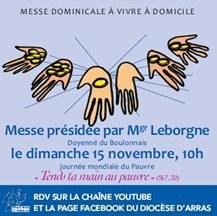 Affiche messe televisee15 novembre