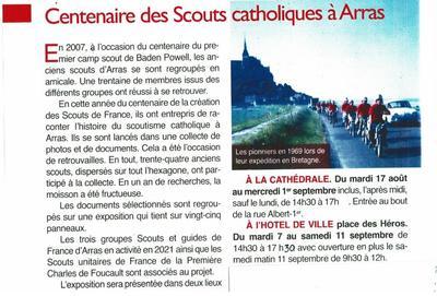 072021 Scoutisme centenaire arras article