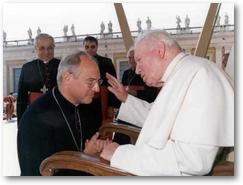 Jean Paul Jaeger et Jean Paul II