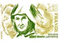 Fondatrice de l'ordre de St Joseph de Cluny Timbre PTT commémoratif