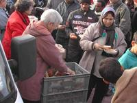 Distribution de repas 4 novembre 2005