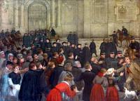 Expulsion des séminarites du palais St Vaast le 14 décembre 1906