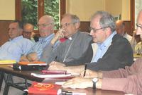 Bernard Rose, Jean-Pierre Muchery, Mgr Jaeger, Elile Galois