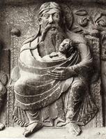 Abraham accueille Lazare le pauvre. Luc 16,19