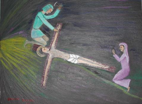Jésus cloué sur la crooix