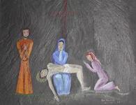 Jésus descendu de la croix et remis à sa mère
