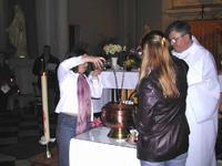 Préparatifs pour le baptême, nuit de Pâques