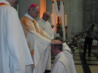 Lors de l'ordination des prêtres