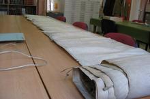 Le rouleau de parchemin «  Rollancourt 1389 »