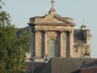 Partie supérieure de la façade