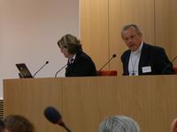 Mgr Hippolyte Simon;Mme Elisabeth Cordier, présidente de la comm