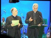 Mgr Carru (Vatican) et Dufour (SNCC)