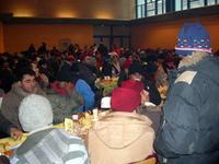 23 décembre 2007, salle du Minck, avec les réfugiés