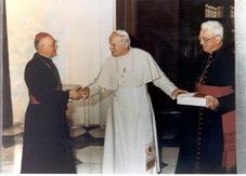 Jean Paul II, Mgr Derouet et Mgr Harlé