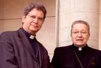 Mgr Ulrich, vice-président de la CEF, aux côtés de Mgr Vingt-trois