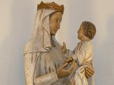Une représentation intimiste, le regard. Dialogue entre Marie et Jésus. D'après statue cathédrale d'Amiens