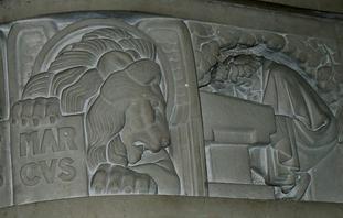 Bas-relief, chaire de la cathédrale d'Arras
