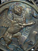 Le lion ailé, symbole de l'évangéliste