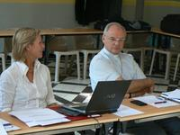 Mme Catherine Sauvage et Mgr jaeger