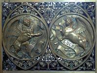 Le lion ailé, symbole de Marc, le taureau ailé, symbole de Luc