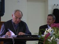 Mgr Jaeger et Benoit Scache