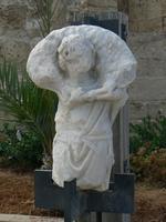 Marbre exposé à Césarée