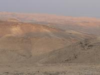 A 40 km de Jérusalem, à quelques km de la Mer morte, (en haut à droite).