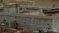 Maquette à Jérusalem. Le Temple, parvis des païens, parvis des juifs, ,(non visible: le saint des saints).