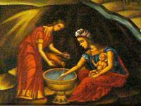 Nativité, détail,