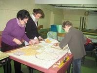 préparation de la mosaïque