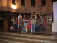 Les enfants, lors de l'eucharistie