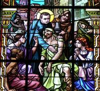 Saint Louis de Gonzague au milieu des pauvres