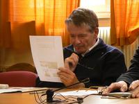 Monsieur Wintrebert, lors de l'exposé au Service des Archives diocésaines