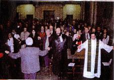assemblee lors d une celebration
