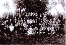 Paroissiens de Wanquetin en sortie à Hauteville vers 1920-1930