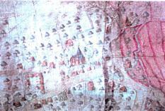 Le village de Fleurbaix, détail du plan Terrier du pays de Lalleu dressé en 1622