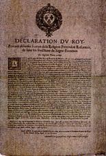 declaration du roy
