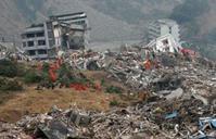 Immeuble détruit par le séisme