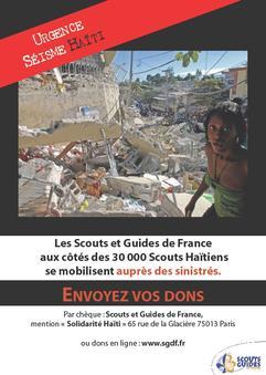 Affiche, appel des scouts