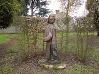 Statue St Benoit jardins