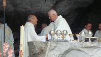 Lourdes pélé 2010 Mgr Jaeger et Mgr Carré