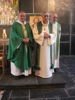 L'abbé Brisbout lors de la Fëte de la Paroisse en juin 2010