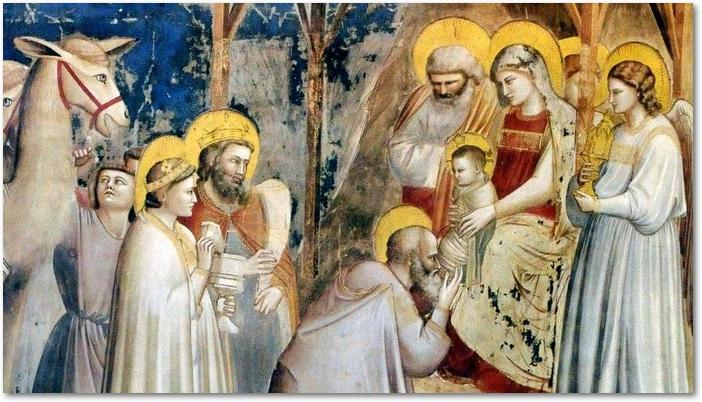 L'adoration des mages par Giotto